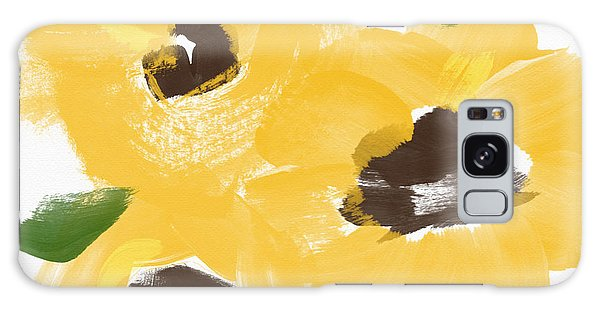 Country Living Galaxy Case - Sketchbook Sunflowers- Art By Linda Woods by Linda Woods