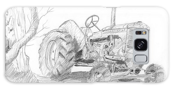 Sketchy Tractor Galaxy Case