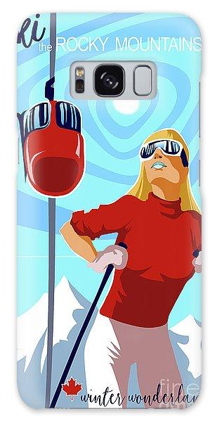 Style Galaxy Case - Ski Bunny Retro Ski Poster by Sassan Filsoof