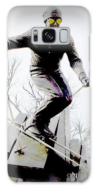 Ski On The Edge Galaxy Case by Michelle Frizzell-Thompson