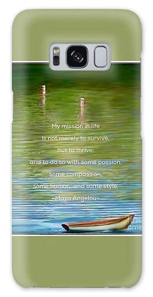 Skiff Boat Quote Galaxy Case by Susan Garren