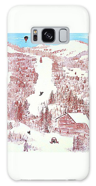 Skiing Deer Valley Utah Galaxy Case by Richard W Linford