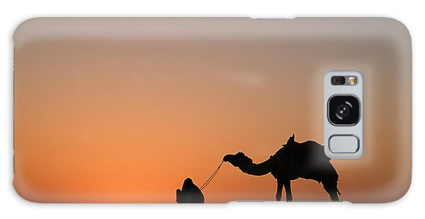 Skn 0870 Silhouette At Sunrise Galaxy Case
