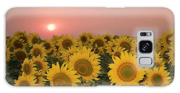 Skn 2179 Sunflower Landscape Galaxy Case