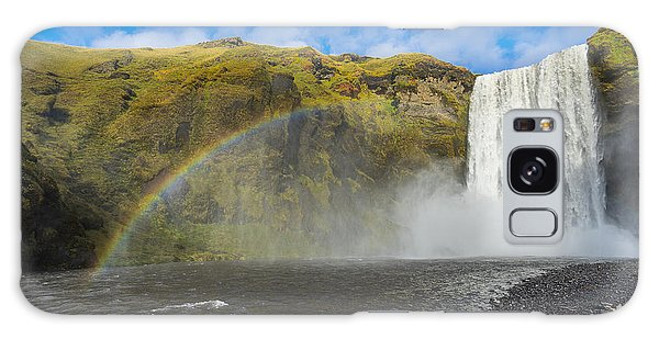 Skogafoss Rainbow Galaxy Case