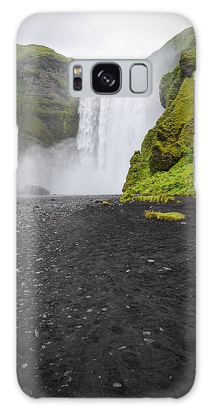 Skogafoss The Entrance To Fimmvorduhals Galaxy Case