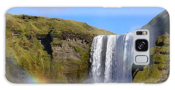 Skogafoss Waterfall With Rainbow 151 Galaxy Case