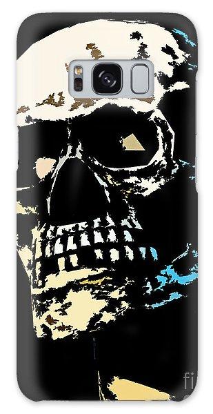 Skull Against A Dark Background Galaxy Case