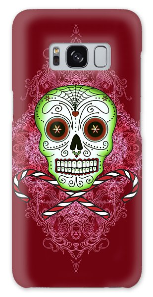Skull And Candy Canes Galaxy Case