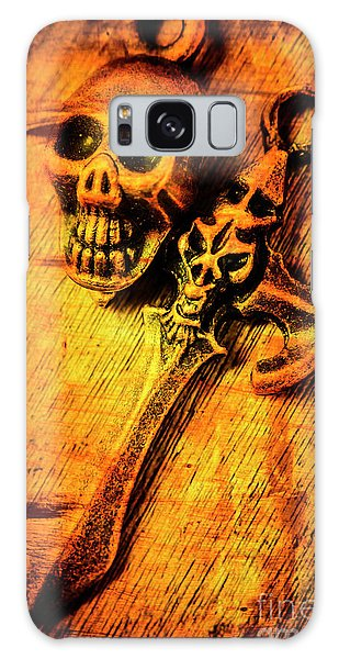 Punk Galaxy Case - Skull And The Sword by Jorgo Photography - Wall Art Gallery