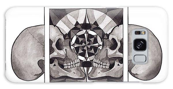 Galaxy Case - Skull Mandala Series Nr 1 by Deadcharming Art