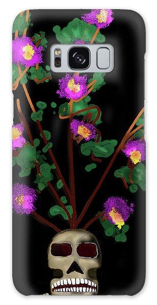 Skull Vase Galaxy Case