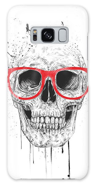 Skull With Red Glasses Galaxy Case