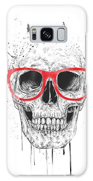 Skulls Galaxy Case - Skull With Red Glasses by Balazs Solti