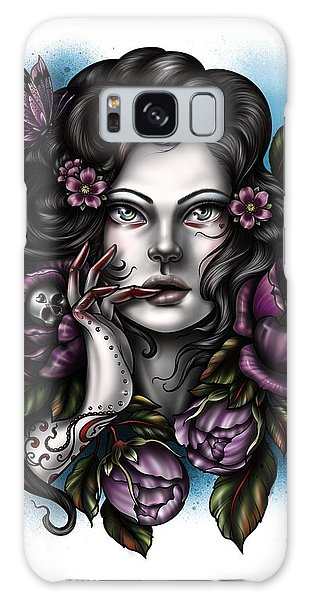 Skulls And Roses Galaxy Case