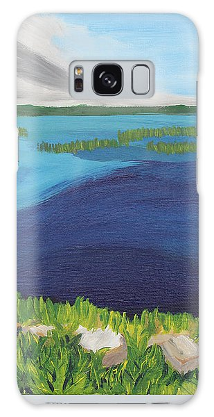Serene Blue Lake Galaxy Case