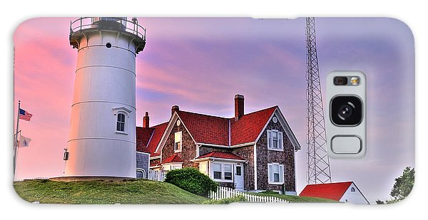 Sky Of Passion - Nobska Lighthouse Galaxy Case