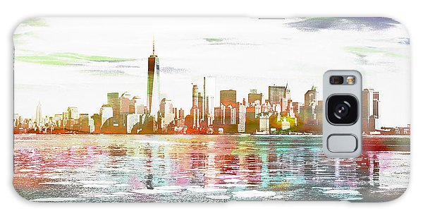 Skyline Of New York City, United States Galaxy Case