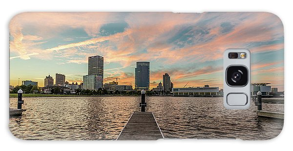 Galaxy Case featuring the photograph Skyline Sunset by Randy Scherkenbach