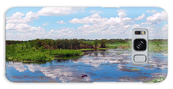 Skyscape Reflections Blue Cypress Marsh Near Vero Beach Florida C5 Galaxy Case