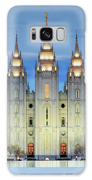Temple Galaxy Case - Slc Temple Blue by La Rae  Roberts