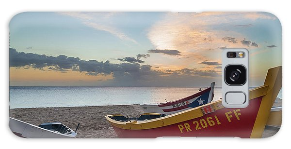 Sleeping Boats On The Beach Galaxy Case