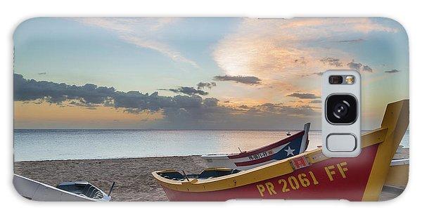Sleeping Boats On The Beach Galaxy Case