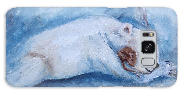 Sleeping Buddies Aceo Baby Polar Bear And Mouse Galaxy Case by Brenda Thour