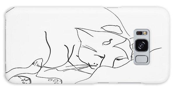 Sleeping Cat Galaxy Case by Leela Payne