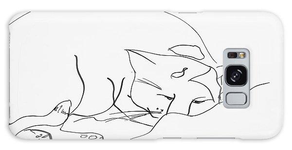 Sleeping Cat Galaxy Case