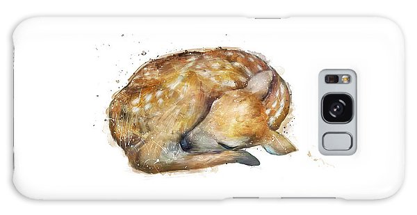 White-tailed Deer Galaxy Case - Sleeping Fawn by Amy Hamilton