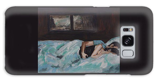 Sleeping In Galaxy Case by Leslie Allen