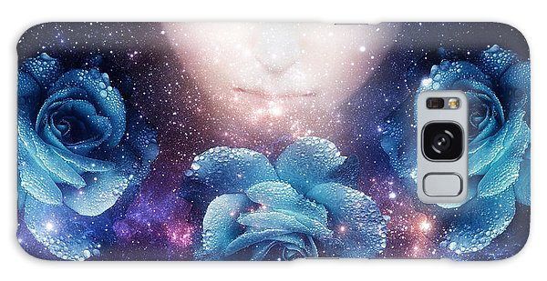 Sleeping Rose Galaxy Case by Mo T