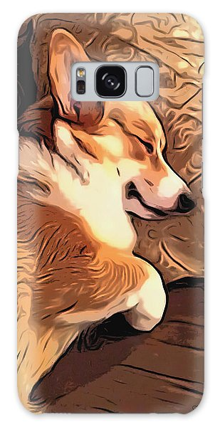 Banjo The Sleeping Welsh Corgi Galaxy Case