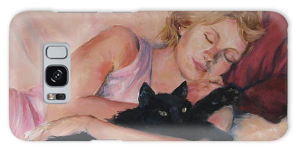 Sleeping With Fur Galaxy Case by Connie Schaertl