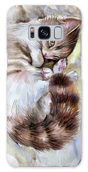 Sleepy Cat 2 Galaxy Case