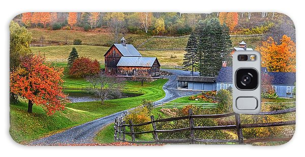 Sleepy Hollows Farm Woodstock Vermont Vt Autumn Bright Colors Galaxy Case