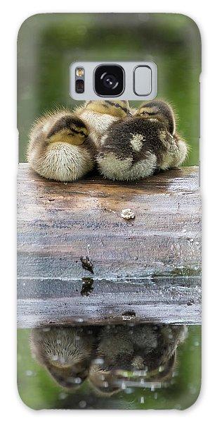 Gosling Galaxy Case - Sleepy Mallard Babies by Mircea Costina Photography