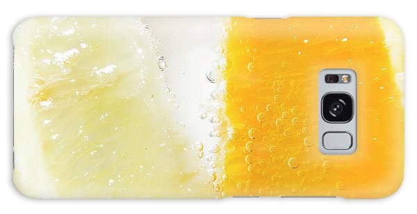 Horizontal Galaxy Case - Slice Of Orange And Lemon In Cocktail Glass by Jorgo Photography - Wall Art Gallery
