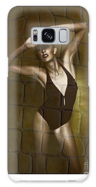 Slim Girl In Bathing Suit Galaxy Case
