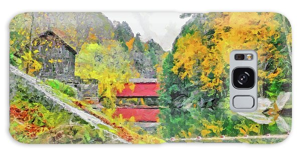 Galaxy Case featuring the digital art Slippery Rock Creek At Mcconnells Mill by Digital Photographic Arts