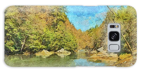 Galaxy Case featuring the digital art Slippery Rock Creek by Digital Photographic Arts