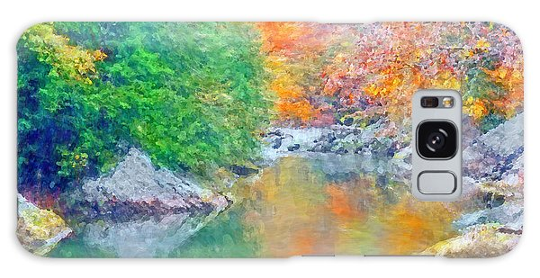 Galaxy Case featuring the digital art Slippery Rock Creek In Autumn by Digital Photographic Arts