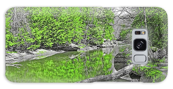 Galaxy Case featuring the photograph Slippery Rock Creek In Spring by Digital Photographic Arts