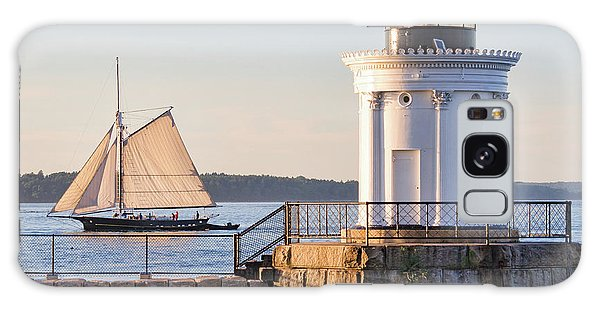 Sloop And Lighthouse, South Portland, Maine  -56170 Galaxy Case
