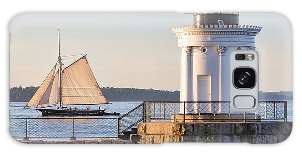 Sloop And Lighthouse, South Portland, Maine  -56170 Galaxy Case by John Bald