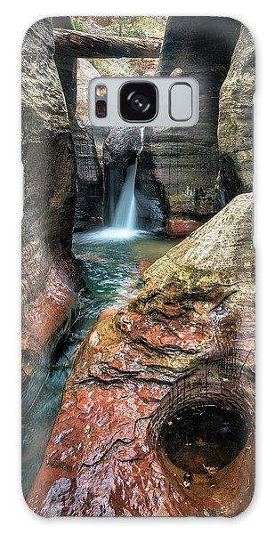 Slot Canyon Waterfall At Zion National Park Galaxy Case
