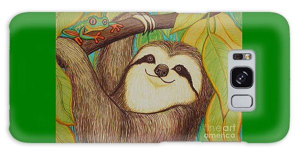 Sloth And Frog Galaxy Case by Nick Gustafson
