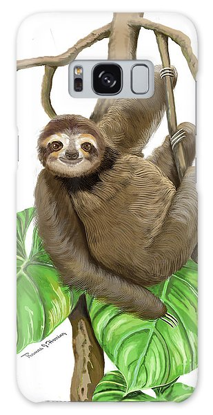 Galaxy Case featuring the mixed media Hanging Three Toe Sloth  by Thomas J Herring