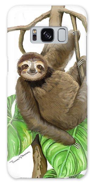 Hanging Three Toe Sloth  Galaxy Case